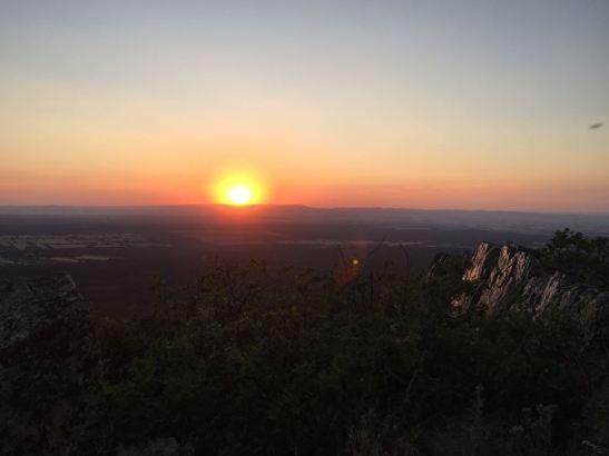 Sunset at Mirador de Piedras Llanas